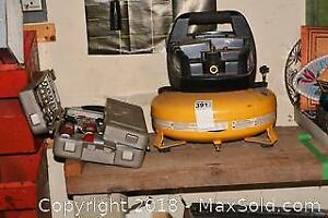 Air Tools And Compressor. B