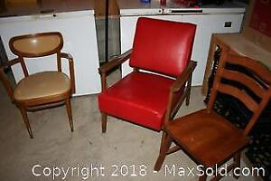 Vintage Chairs, One with Teak Frame