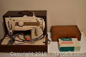 Sewing Machine And Accessories. B