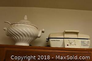 Soup Tureen And Grill - C