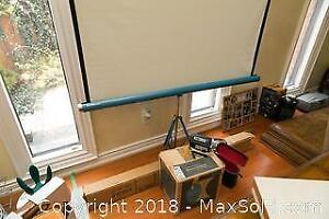 Vintage Projector and Screen A