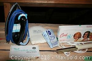 Vintage Iron and Electric Hairdryer Comb and More