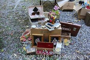 Vintage Jewelry, Glasses, Pipe Rack And More