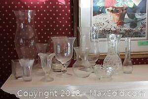 Glass Vases, Decanter And More