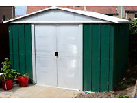 metal garden shed apex 8x8ft