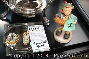 Swarovski and Hummel Figurine A