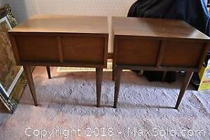 Mid Century End Tables. B