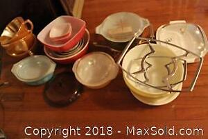 Pyrex, Fire King And Corning. C