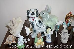 Assorted Figurines Including Willow Tree and Beatrix Potter