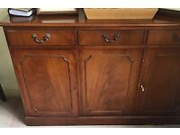 Sideboard (Mahogany), 3 cupboards/3 drawers