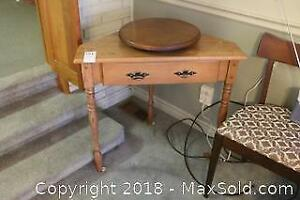 Corner Table And Lazy Susan. C