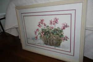 Framed Water Coloured Painting