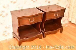 Pair Of Night Tables. C