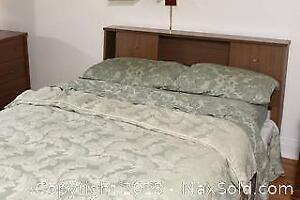 Vintage Bed Frame With Bedding C