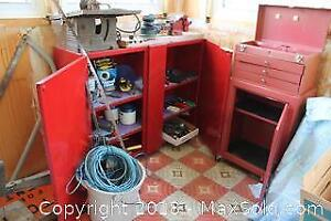 Tool Box, Cabinet And Tools. B
