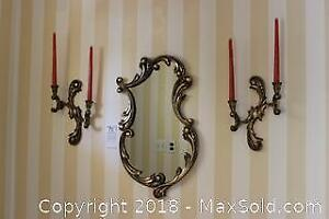 Mirror And Sconces. A