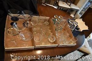 Bar Glassware And Crystal Liqueur. A