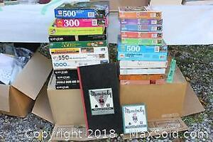 Jigsaw Puzzles And Vintage Monopoly