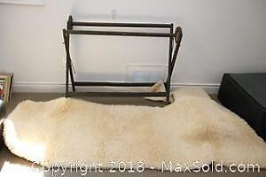 Antique Quilt Rack And Rugs -C