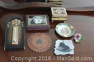 Soapstone Carving, Limoges Plate and More