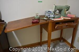 Sewing Machine And Table. C