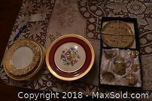 Decorative Plates And Tea Set. B