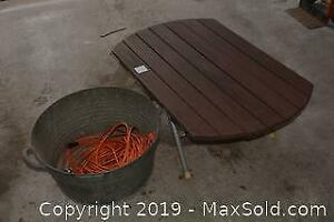 Table And Washtub. A