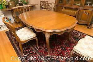Pecan Vintage Dining Table - C