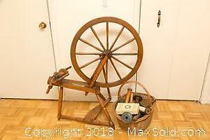 Antique Spinning Wheel - A