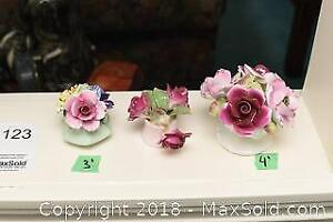 Hand Crafted Floral Figurines B