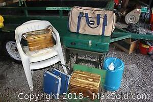 Vintage Picnic Baskets, Camping Stoves And More