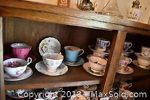 Tea Cups and Saucers. B