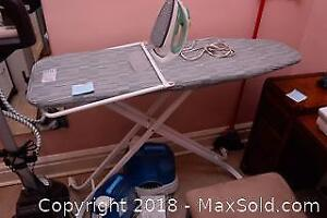 Ironing Board And Iron - B