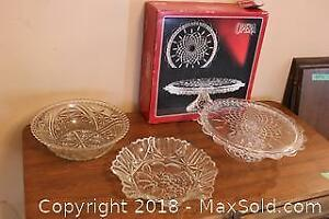 Cake Stand and Platters