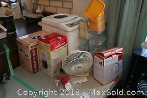 Small Appliances And Food Containers. B