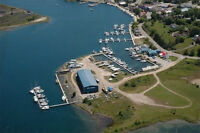 Full service 70+ slips marina on 1.35 acre 143' on North Channel