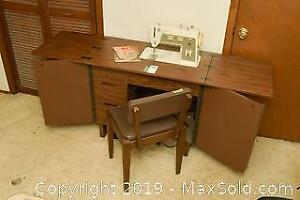 Sewing Machine and Cabinet. C