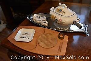 Soup Tureen and Cheese Board. A
