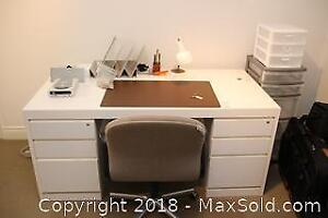 Office Desk And Supplies-C