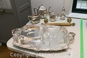 Silver Plated Tea Set, Brass Rod and more A