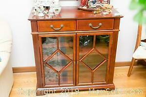Cherry Wood Bar Cabinet B