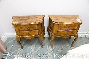 Pair Of Side Tables - B