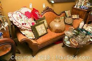 Antique Decorative Love Seat C
