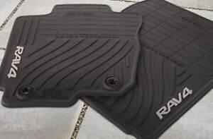 toyota rav4 oem all weather rubber floor mats 2013 2014. Black Bedroom Furniture Sets. Home Design Ideas
