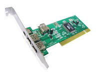 selling or binning - 4 Port Firewire PCI IEEE1394 Card (3 x 6 Pins 1 x 4 pins) with Cable