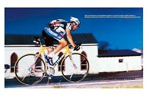 CYCLING POSTER ~ LANCE ARMSTRONG WHAT AM I ON? Bike