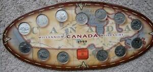 CANADA MILLENNIUM 1999  AND CANADA 125  SET