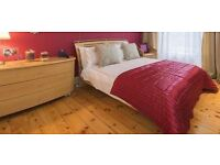 Excellent condition double bed, mattress plus chest of drawers