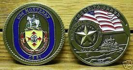 USS Monterey Challenge coin