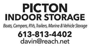 PICTON INDOOR STORAGE - BOOK NOW FOR 2016 FALL/WINTER - $15/ft